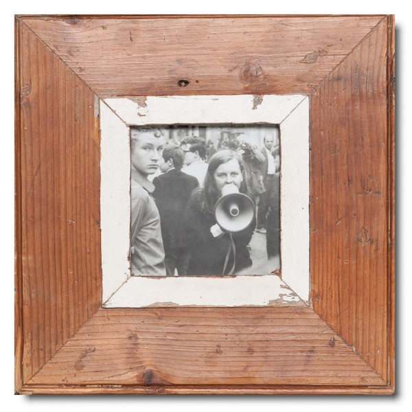 Quadrat Bilderrahmen aus recyceltem Holz für Fotoformat 10,5 x 10,5