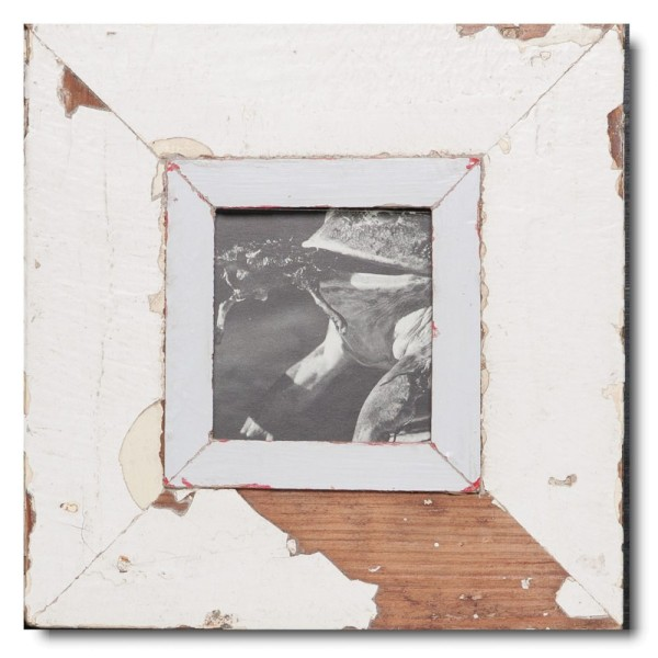 Quadrat Bilderrahmen aus recyceltem Holz für Bildgröße DIN A6 Quadrat von Luna Designs