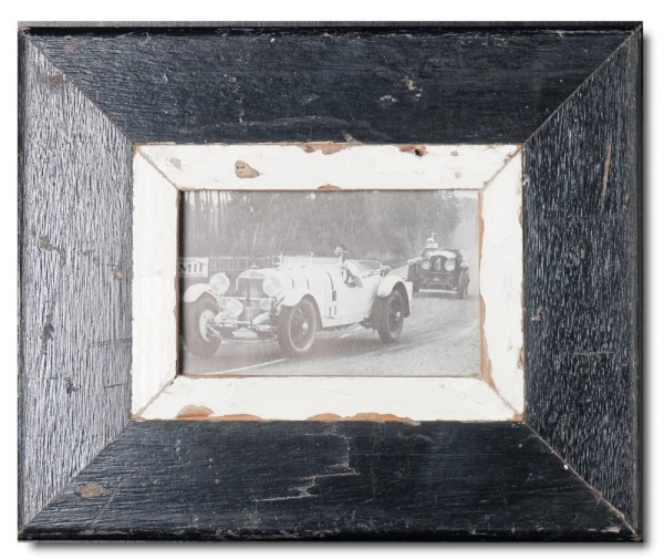 Bilderrahmen aus recyceltem Holz für Fotogröße DIN A6 von Luna Designs