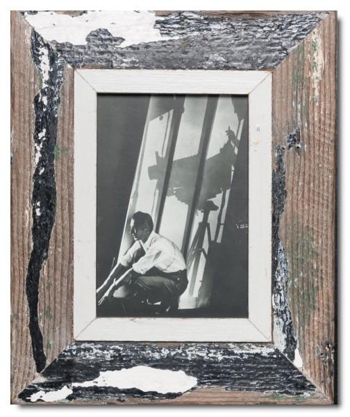 Bilderrahmen aus recyceltem Holz für Fotogröße 14,8 x 21 cm aus Südafrika