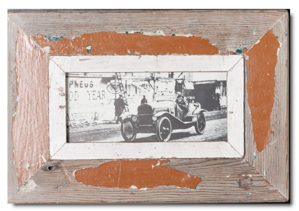 Panorama Bilderrahmen aus recyceltem Holz für Fotoformat 2:1