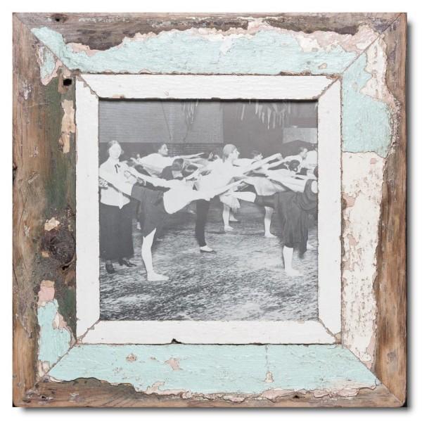 Quadrat Bilderrahmen aus recyceltem Holz für Bildgröße DIN A4 Quadrat