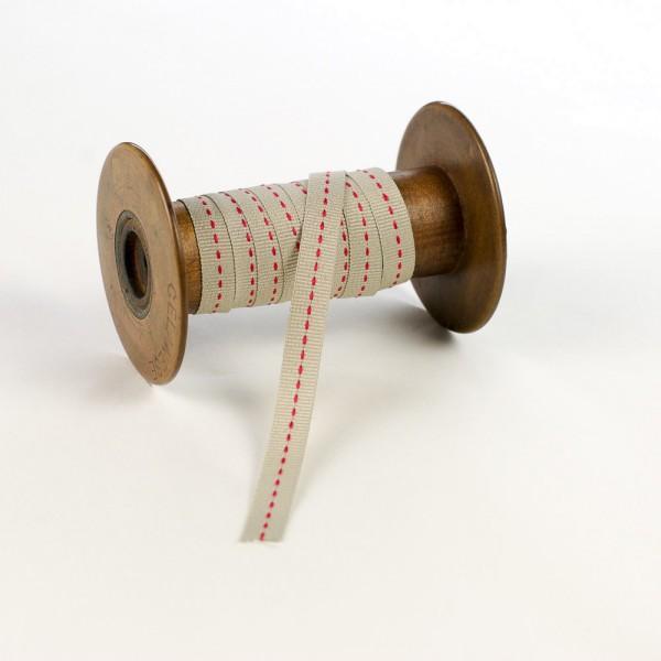10mm Geschenkband aus Textil mit Mittelstich