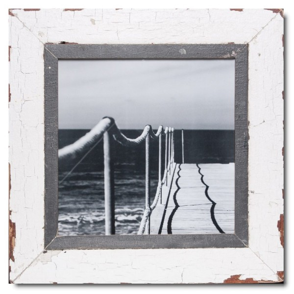 Quadrat Bilderrahmen aus recyceltem Holz für Bildformat DIN A3 Quadrat von Luna Designs
