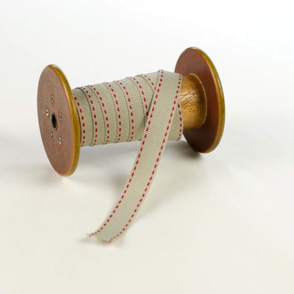 15mm Geschenkband aus Stoff mit Sattelstich