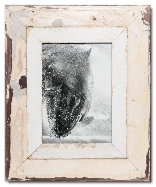 Breiter Bilderrahmen aus recyceltem Holz für Fotoformat 29,7 x 21 cm aus Südafrika