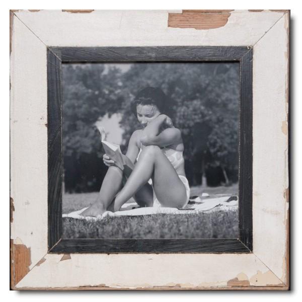 Quadrat Bilderrahmen aus recyceltem Holz für Bildgröße DIN A3 Quadrat