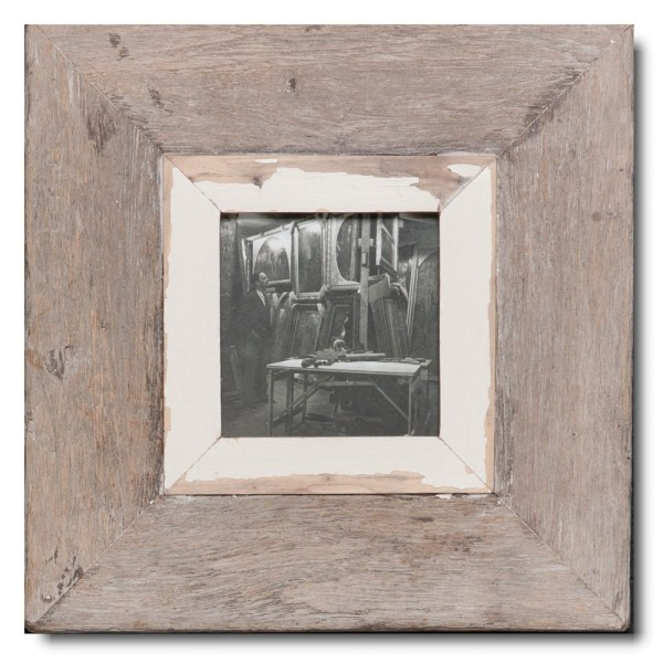 Quadratischer Vintage Bilderrahmen für Fotoformat DIN A6 Quadrat