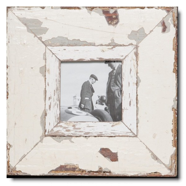 Quadrat Bilderrahmen aus recyceltem Holz für Fotogröße DIN A6 Quadrat