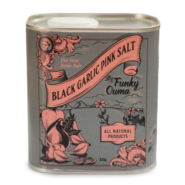 Black Garlic Pink Salt - Schwarzer Knoblauch Gewürzsalz