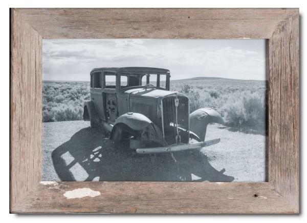 Basic Bilderrahmen aus recyceltem Holz für Fotogröße 25 x 38 cm aus Südafrika