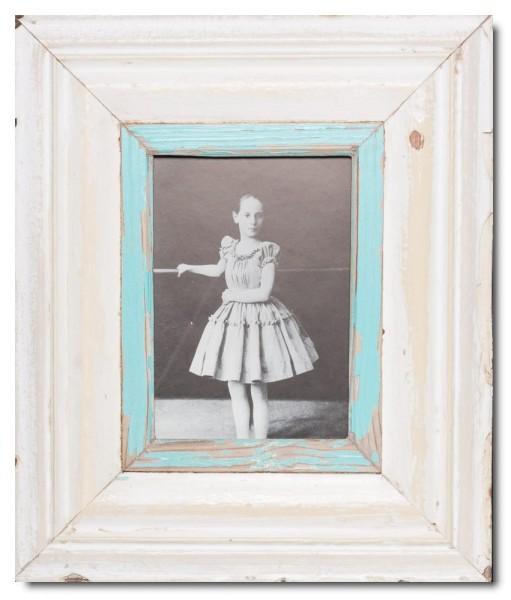 Breiter Bilderrahmen aus recyceltem Holz für Bildgröße 21 x 14,8 cm aus Kapstadt