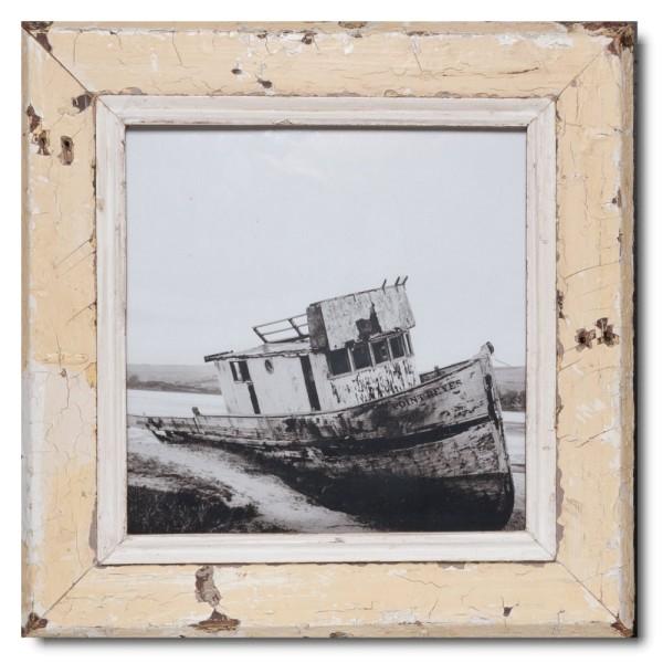 Altholz Bilderrahmen Quadrat für Fotoformat DIN A3 Quadrat