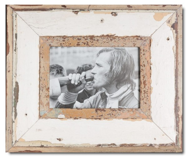Breiter Altholz Bilderrahmen für Fotoformat 21 x 14,8 cm
