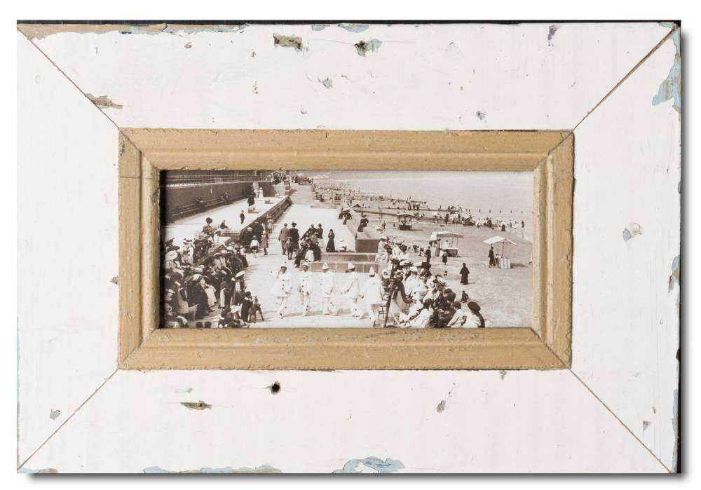 Panorama Bilderrahmen aus recyceltem Holz für Fotogröße 21 x 10,5 cm ...