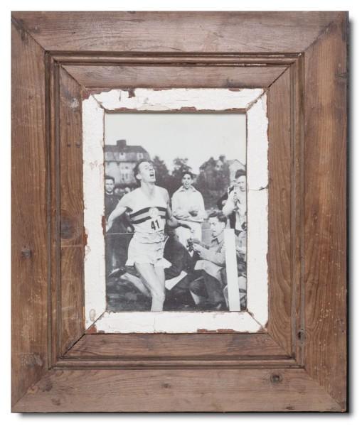 Breiter Bilderrahmen aus recyceltem Holz für Bildgröße 21 x 14,8 cm