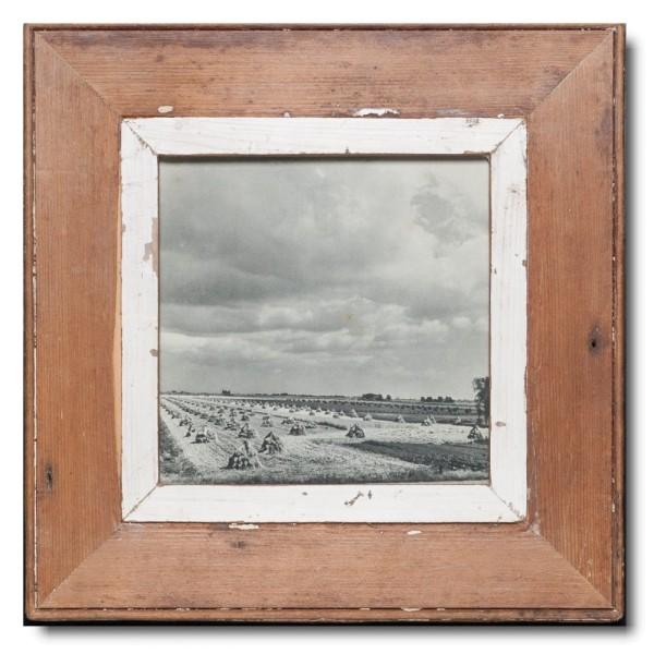 Quadrat Bilderrahmen aus recyceltem Holz für Fotoformat 21 x 21 von Luna Designs