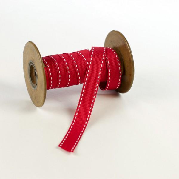 15mm Textilband mit Sattelstich