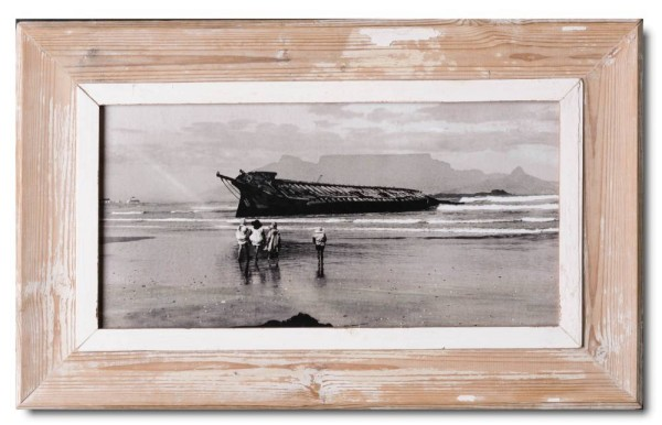 Panoramic reclaimed wooden photo frame for picture size A3 Panoramic ...