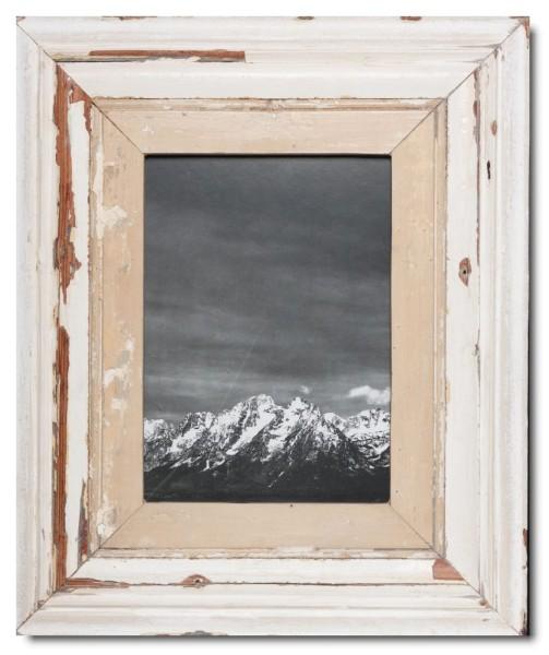 Breiter Bilderrahmen aus recyceltem Holz für Fotoformat DIN A4 aus Südafrika