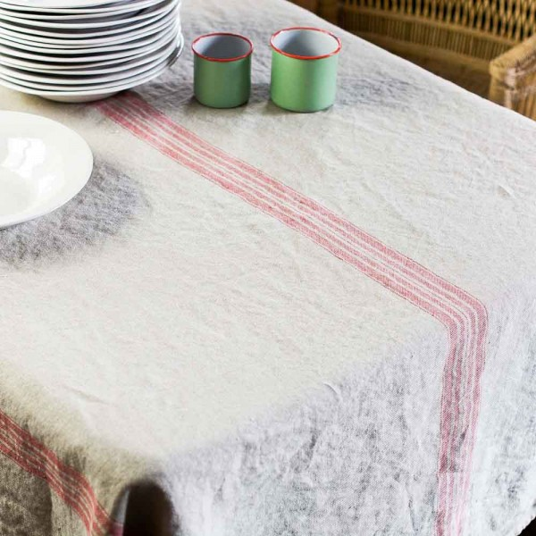 Tischdecke Vintage Groß, Rot