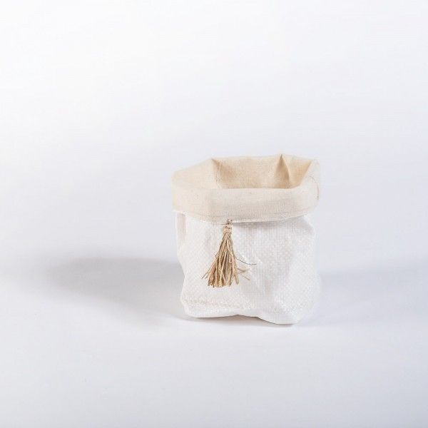 Körbchen aus alten Futtersäcken