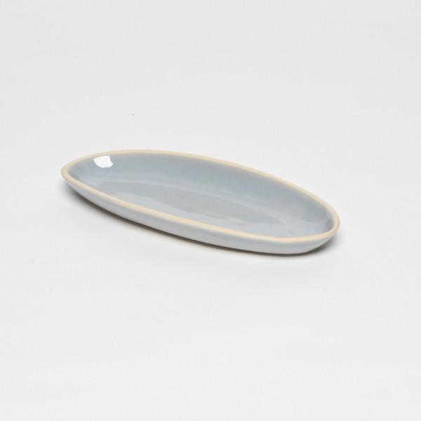 Graue Bamboo Servierplatte XS - beach sand