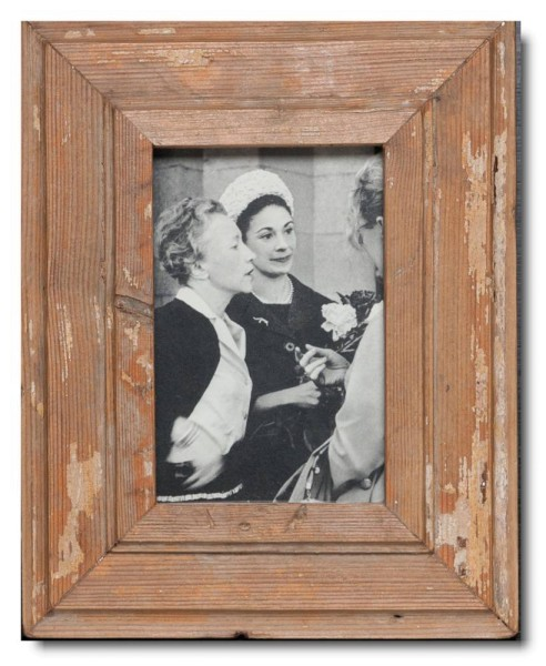 Basic Bilderrahmen aus recyceltem Holz für Bildformat 10 x 15 cm aus Südafrika