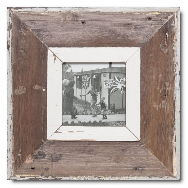 Altholz Bilderrahmen Quadrat für Fotoformat DIN A6 Quadrat