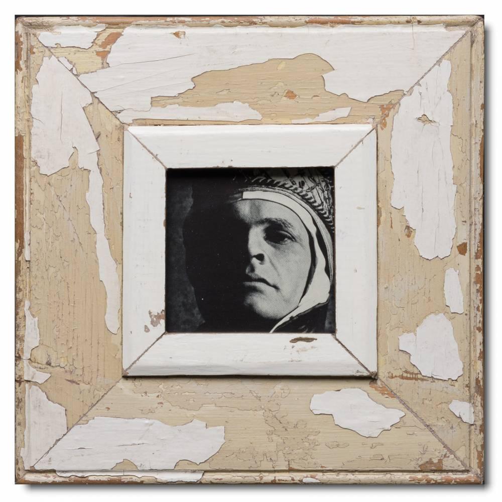 Quadrat Bilderrahmen aus recyceltem Holz für Fotoformat DIN A6 ...