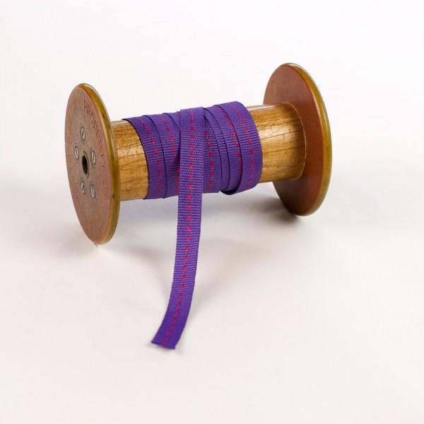 10mm Geschenkband aus Stoff mit Mittelstich