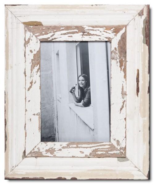 Breiter Bilderrahmen aus recyceltem Holz für Bildformat DIN A4