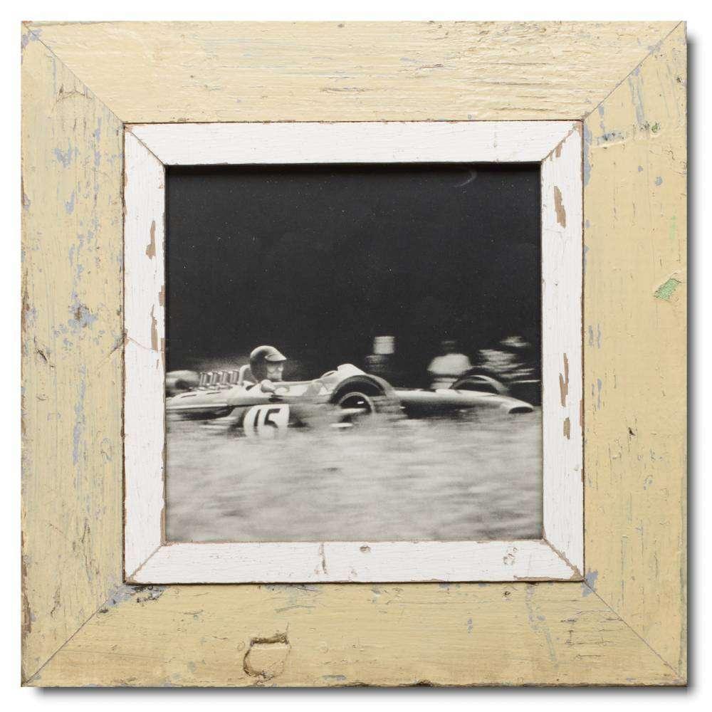 Quadrat Bilderrahmen aus recyceltem Holz für Bildformat 21 x 21 von ...