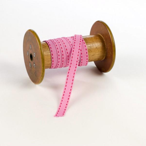 10mm Geschenkband aus Stoff mit Sattelstich