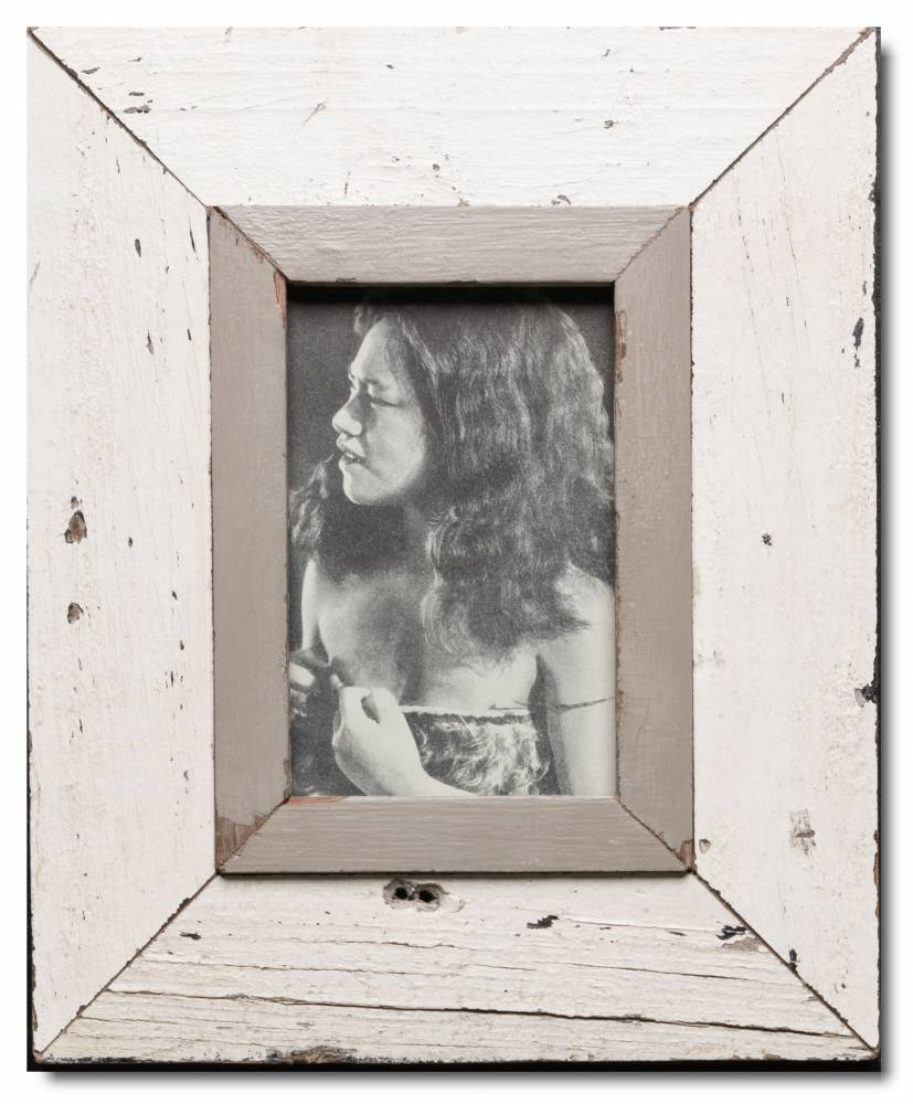 Bilderrahmen aus recyceltem Holz für Bildgröße 10,5 x 14,8 cm | Cape ...