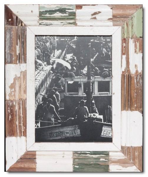 Mosaik Altholz Bilderrahmen für Fotoformat 29,7 x 21 cm