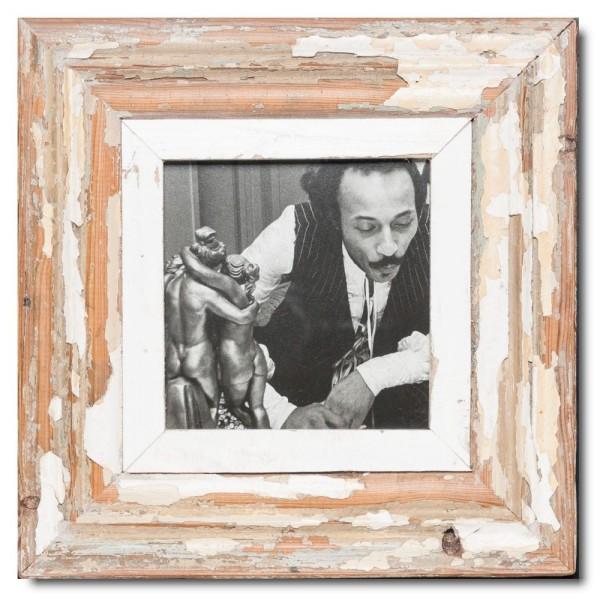 Quadrat Bilderrahmen aus recyceltem Holz für Bildgröße 14,8 x 14,8 von Luna Designs