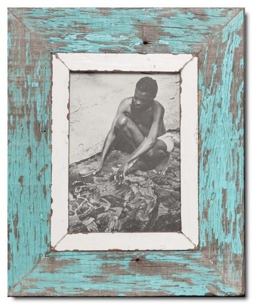 Bilderrahmen aus recyceltem Holz für Fotogröße DIN A5
