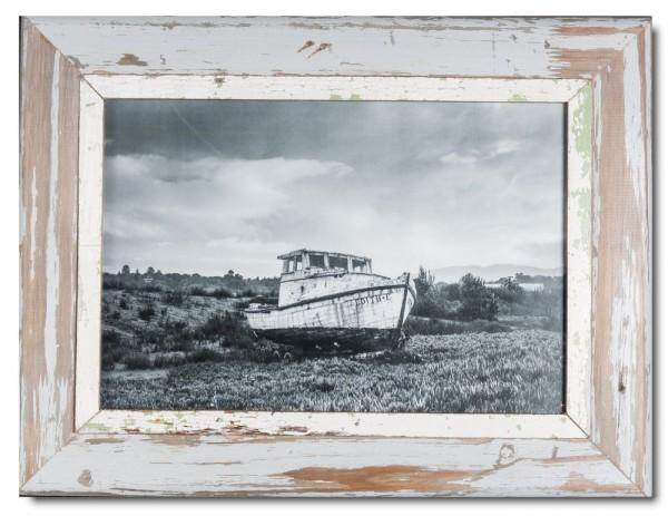 Bilderrahmen aus recyceltem Holz für Bildgröße 29,7 x 42 cm