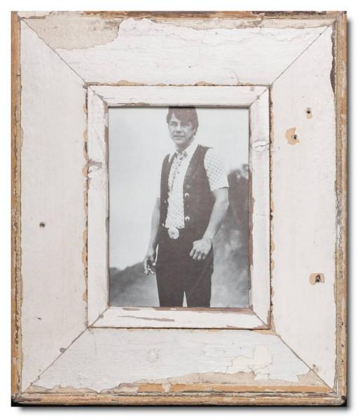 Breiter Bilderrahmen aus recyceltem Holz für Fotogröße DIN A5