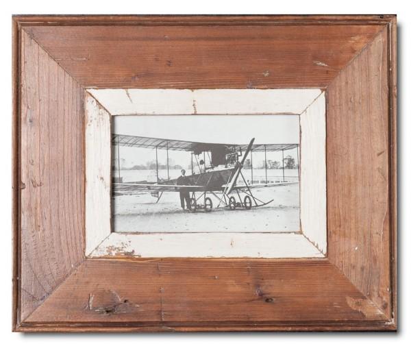 Bilderrahmen aus recyceltem Holz für Fotogröße DIN A6