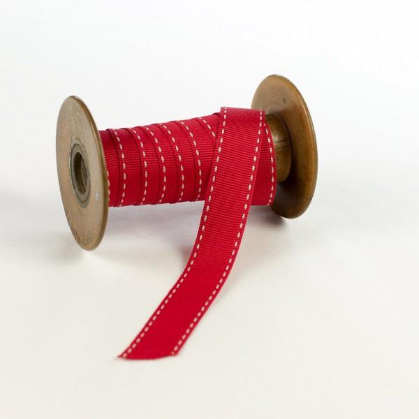 20mm Ripsband mit Sattelstich