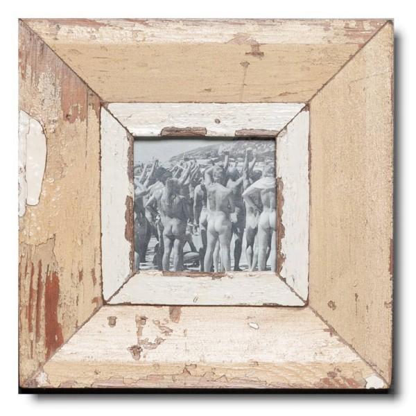 Quadratischer Vintage Bilderrahmen für Bildformat DIN A6 Quadrat aus Südafrika