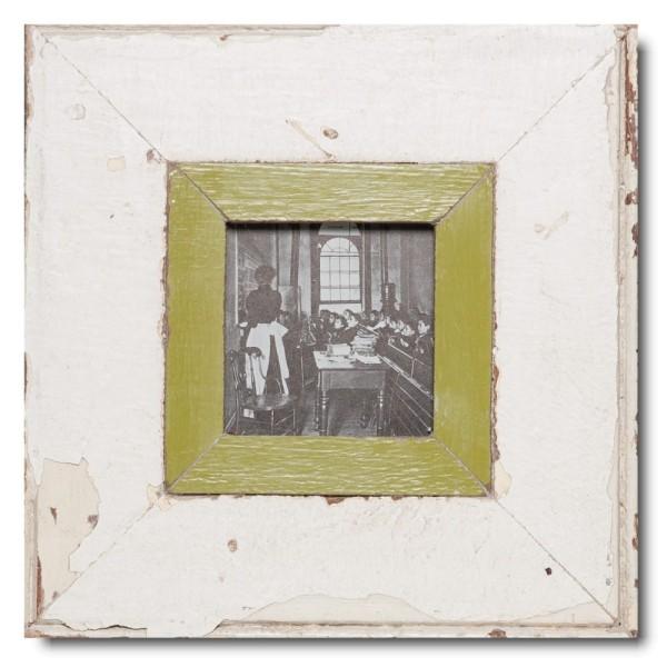 Quadrat Bilderrahmen aus recyceltem Holz für Bildgröße DIN A6 Quadrat aus Kapstadt