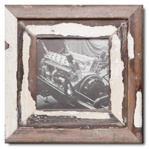 Quadrat Bilderrahmen aus recyceltem Holz für Bildgröße DIN A5 Quadrat von Luna Designs