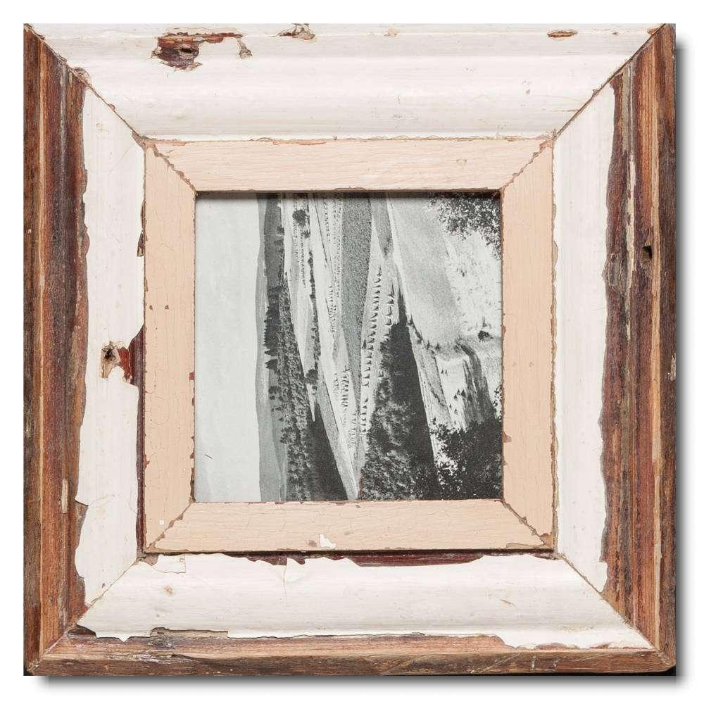 Quadrat Bilderrahmen aus recyceltem Holz für Fotogröße 14,8 x 14,8 ...