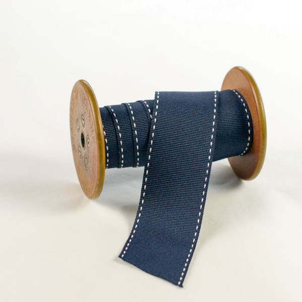 38mm Geschenkband aus Stoff mit Sattelstich