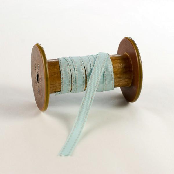 10mm Geschenkband aus Textil mit Sattelstich