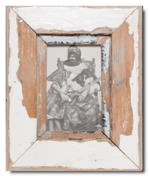 Bilderrahmen aus recyceltem Holz für Fotogröße DIN A6 aus Kapstadt