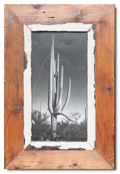 Panorama Bilderrahmen aus recyceltem Holz für Fotogröße 29,7 x 14,8 cm aus Kapstadt